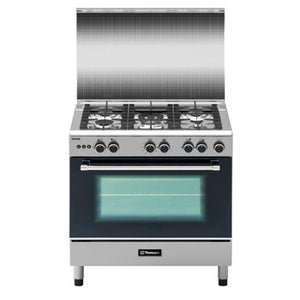 Tecnogas Technik 90cm Cooking Range (5 Gas Burners with Wok Burner, Gas Oven / Gas Grill) | Model: TFG9050CRVSSC
