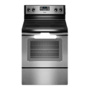 Whirlpool 75cm 4 Burner All Electric Vitroceramic Cooking Range with Electric Oven | Model: WFE515S0ES