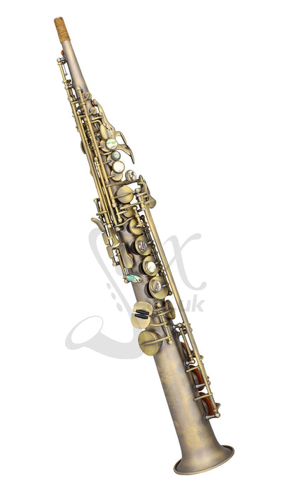 P Mauriat System 76 DK 2nd Edition Straight Soprano Saxophone - Vintage Finish