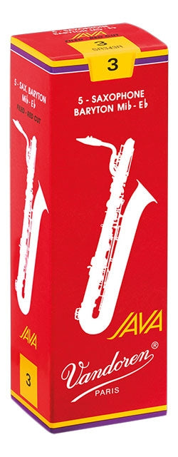 Vandoren Red Java - Baritone Saxophone Reeds - Box of 5
