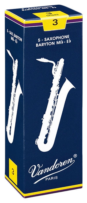 Vandoren Traditional - Baritone Saxophone Reeds - Box of 5