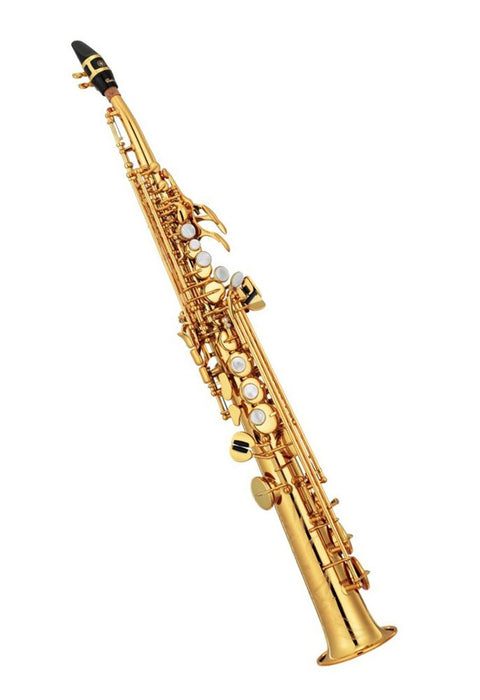 Yamaha Custom YSS-82ZR - Curved Neck Soprano Saxophone - Gold Lacquered