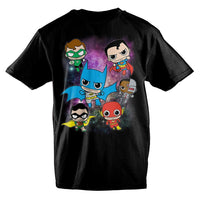 DC Comics Anime Bobblehead Justice League T-Shirt