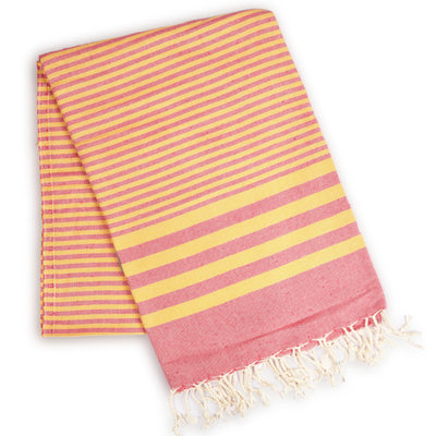 Fethiye Striped Ultra Soft Eco-Friendly - Pink + Orange - Green Goddess Entertaining