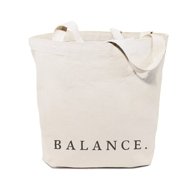 Balance Gym Cotton Canvas Tote Bag - Green Goddess Entertaining