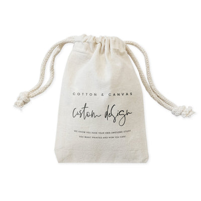 Custom Canvas Favor Bags - Green Goddess Entertaining
