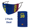 2 PACK Combo, Messi Mask with Adjustable Straps