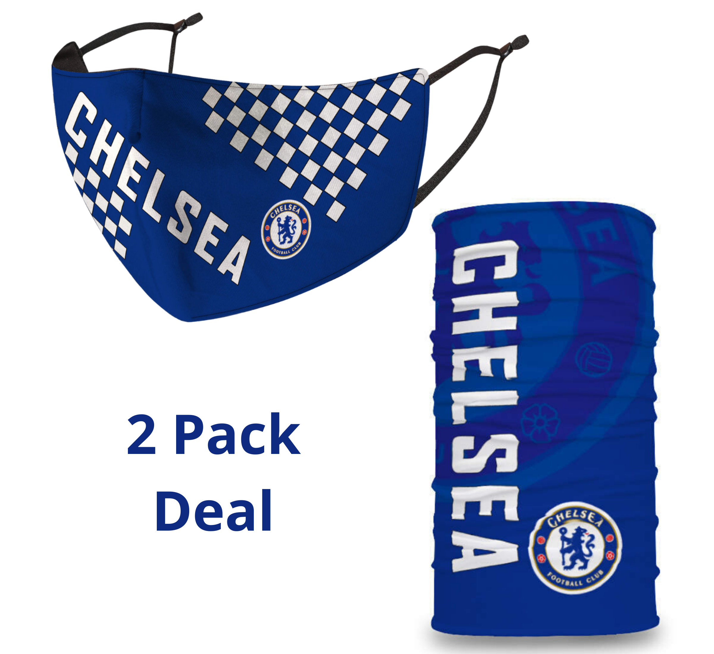 2 PACK Combo, Chelsea Mask with Adjustable Straps
