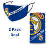 2 PACK Combo, Real Madrid Mask with Adjustable Straps