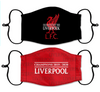 2 PACK Combo, Liverpool Championship Reusable Cotton Face Mask, Washable Face Mask with Adjustable Straps