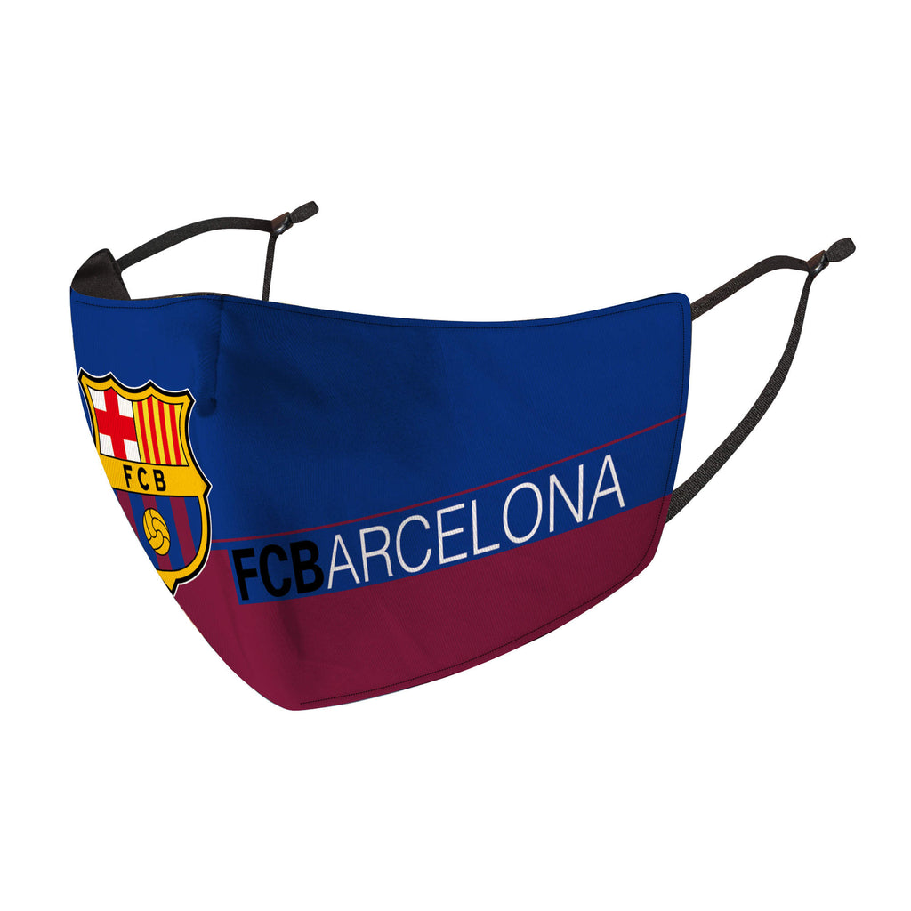F.C. Barcelona Reusable Cotton Face Mask, Washable with Adjustable Straps