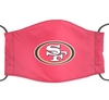San Francisco 49ers Reusable Face Mask, Washable Cotton Face Mask with Adjustable Straps