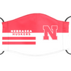 Nebraska Cornhuskers Reusable Cotton Face Mask, Washable Face Mask with Adjustable Straps