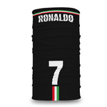 2 PACK Combo, Ronaldo Face Mask with Adjustable Straps