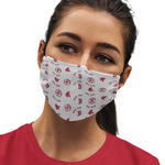 Boston Red Sox Reusable Cotton Face Mask, Washable Face Mask with Adjustable Straps