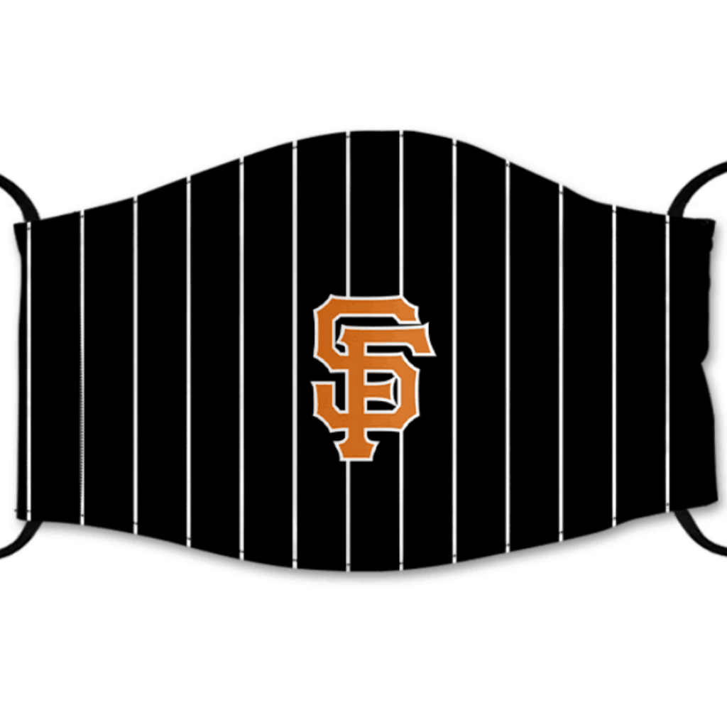 San Francisco Giants Reusable Cotton Face Mask, Washable Face Mask with Adjustable Straps
