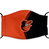 Baltimore Orioles Reusable Cotton Face Mask, Washable Face Mask with Adjustable Straps