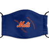 New York Mets Reusable Cotton Face Mask, Washable Face Mask with Adjustable Straps