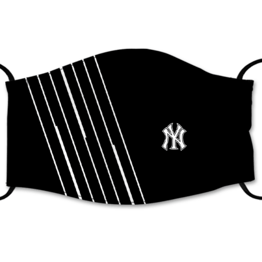 New York Yankees Reusable Cotton Face Mask, Washable Face Mask with Adjustable Straps