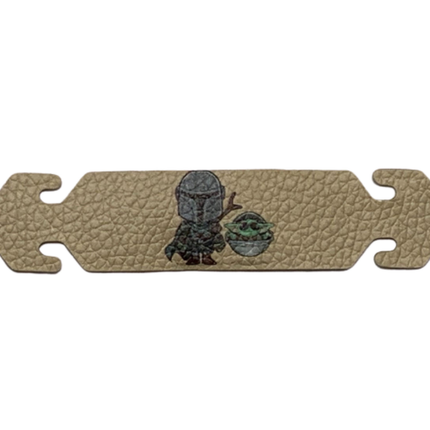 Mandalorian Mask Ear Saver, PU leather