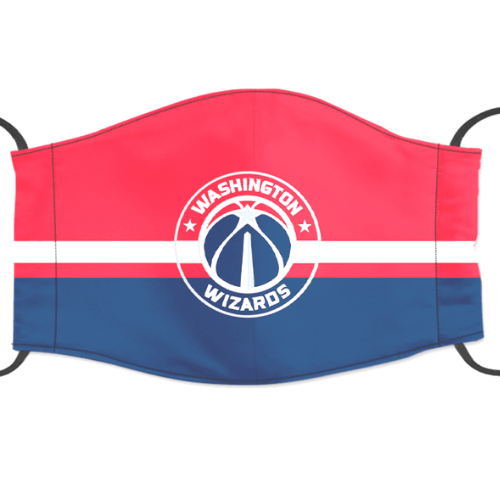 Washington Wizards Reusable Cotton Face Mask, Washable Face Mask with Adjustable Straps