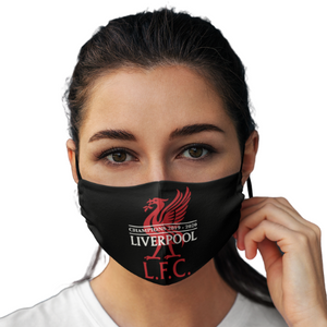2 PACK Combo, Liverpool Reusable Cotton Face Mask, Washable Face Mask with Adjustable Straps