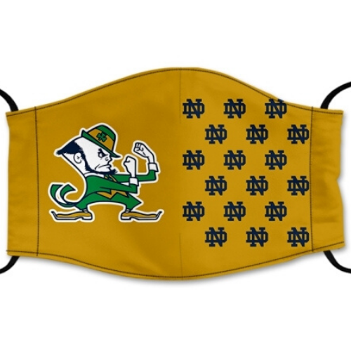 University of Notre Dame Reusable Cotton Face Mask, Washable Face Mask with Adjustable Straps