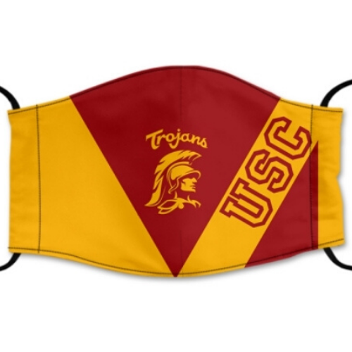USC Trojans Reusable Cotton Face Mask, Washable Face Mask with Adjustable Straps