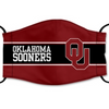Oklahoma Sooners Reusable Cotton Face Mask, Washable Face Mask with Adjustable Straps