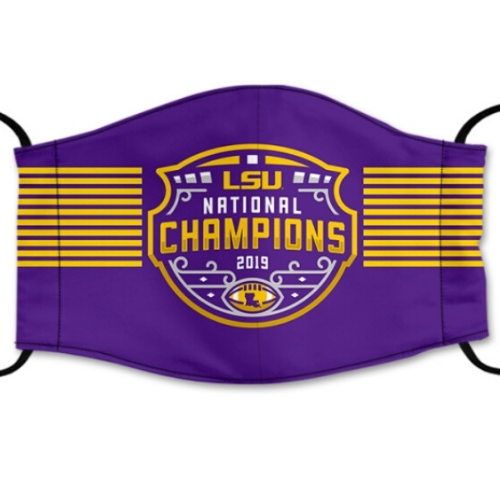 LSU Tigers Reusable Cotton Face Mask, Washable Face Mask with Adjustable Straps
