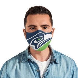 Seattle SEAHAWKS Face Mask Reusable & Washable Cotton Face Mask with Adjustable Straps