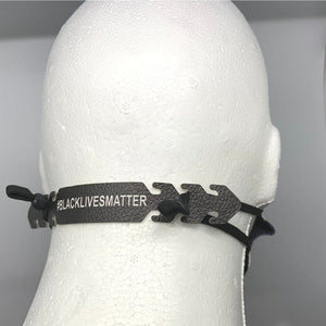 Black Lives Matter Mask Ear Saver, PU Leather