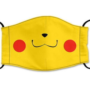 Pokemon Reusable Face Mask Combo Pack, washable Cotton Face mask, with Adjustable Straps