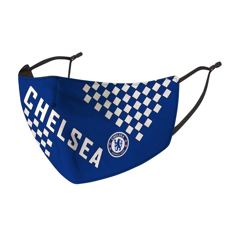 Chelsea F.C. Reusable Cotton Face Mask, Washable with Adjustable Straps