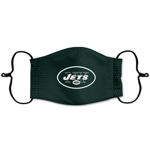 New York Jets Reusable Face Mask, Washable Cotton Face Mask with Adjustable Straps