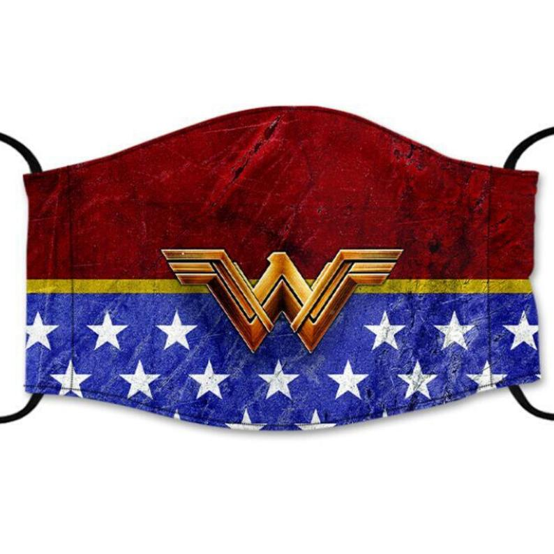 Wonder Woman Reusable Cotton Face Mask, Washable Face Mask with Adjustable Straps