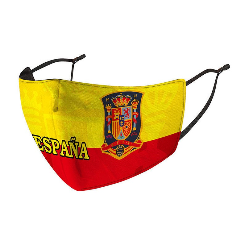 Spain National Team Reusable Cotton Face Mask, Washable with Adjustable Straps, Cool Summer Fashion