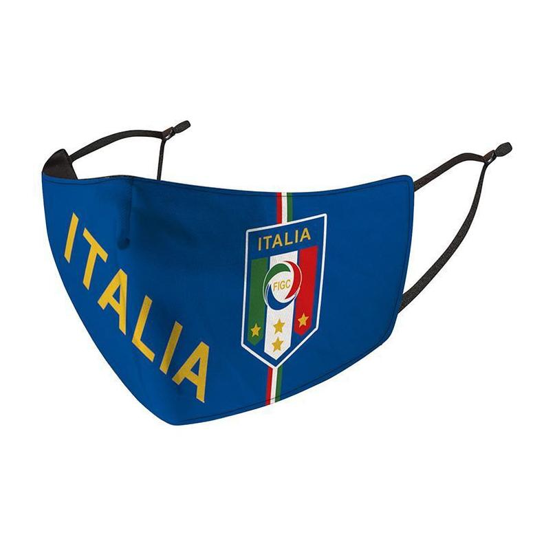 Italy National Team Reusable Cotton Face Mask, Washable with Adjustable Straps
