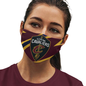 Cleveland Cavaliers Reusable Cotton Face Mask, Washable Face Mask with Adjustable Straps