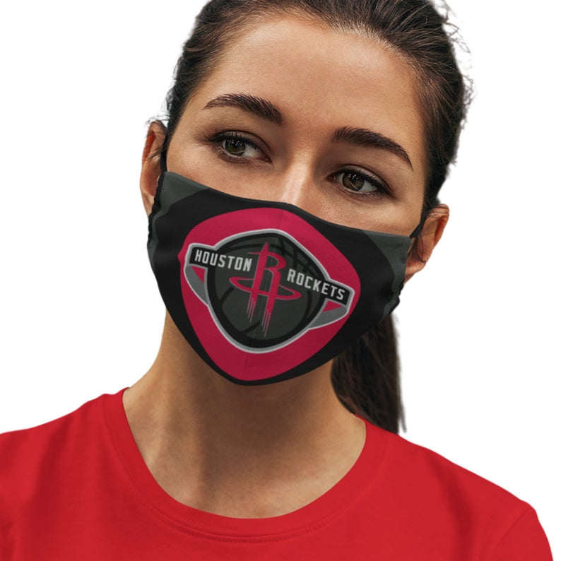 Houston Rockets Reusable Cotton Face Mask, Washable Face Mask with Adjustable Straps