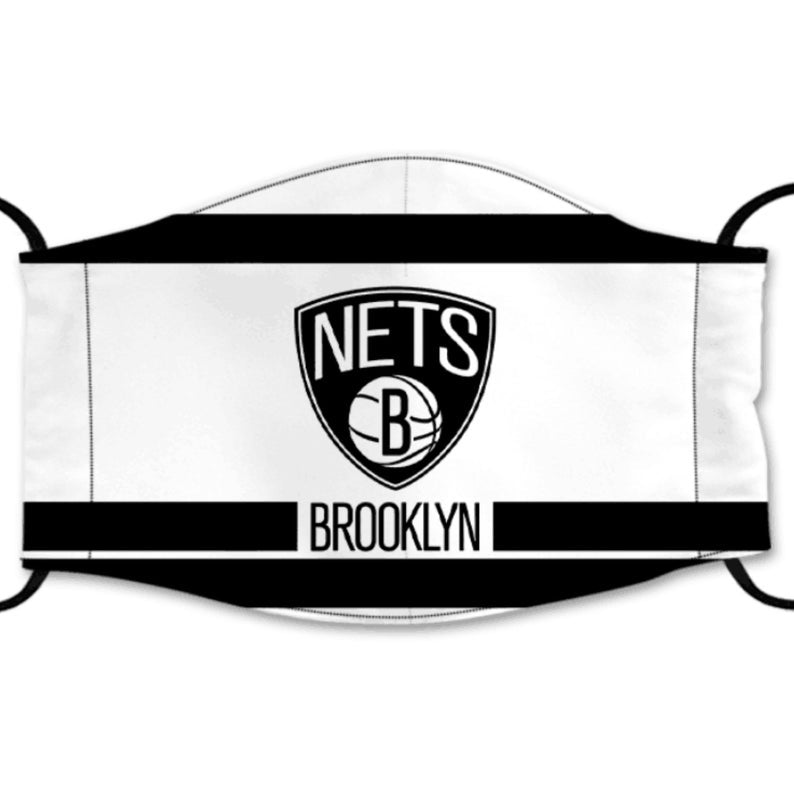 Brooklyn Nets Reusable Cotton Face Mask, Washable Face Mask with Adjustable Straps