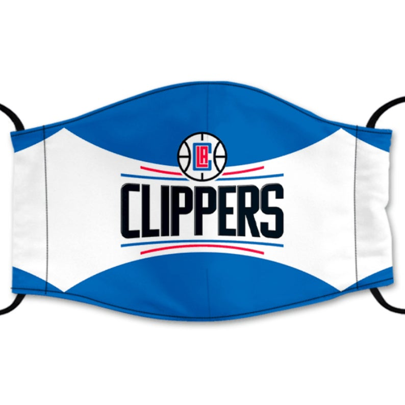 Los Angeles Clippers Reusable Cotton Face Mask, Washable Face Mask with Adjustable Straps