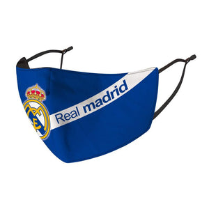 2 PACK Combo, Real Madrid Reusable Cotton Face Mask, Washable Face Mask with Adjustable Straps