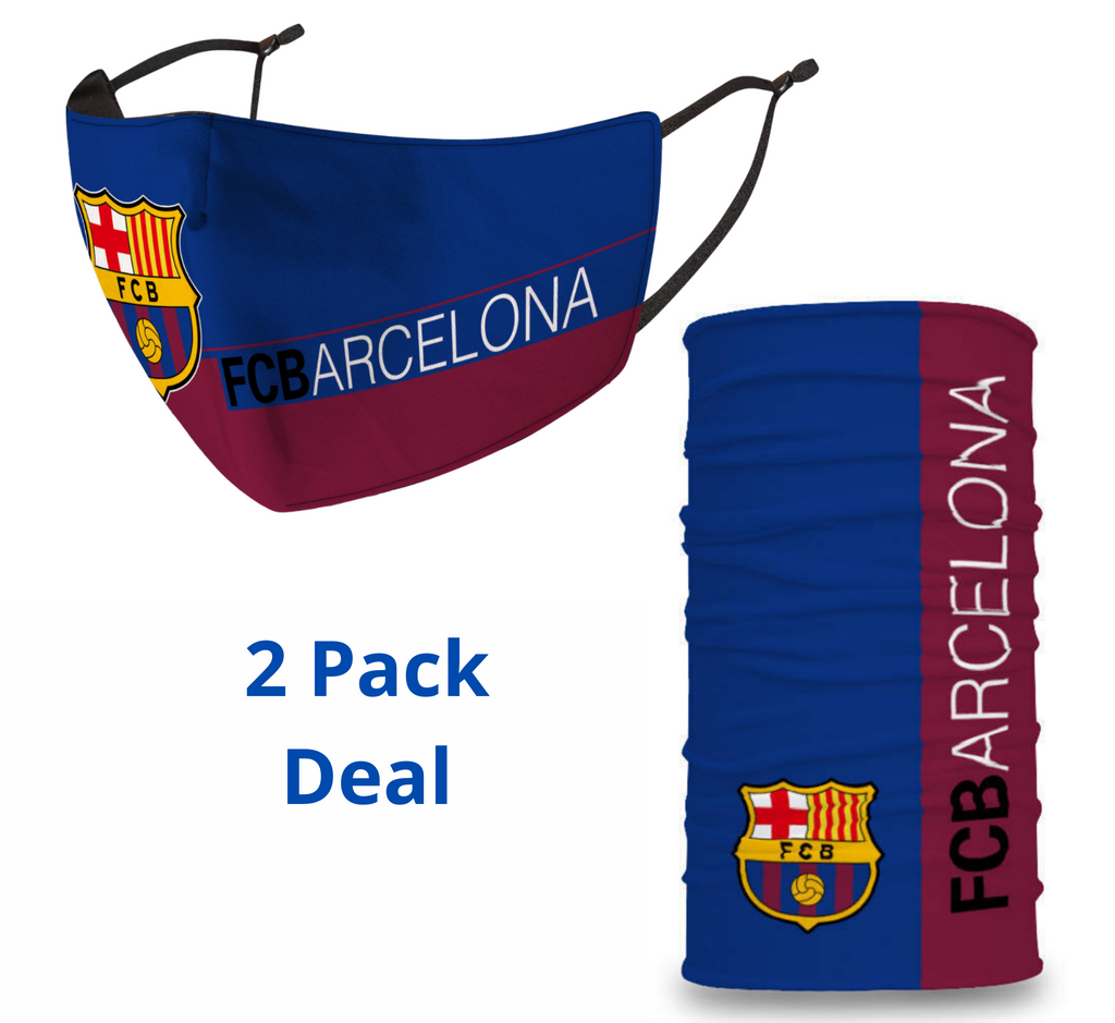 2 PACK Combo, Barcelona Mask with Adjustable Straps