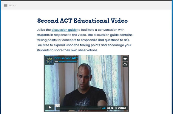 Second ACT: Preparing for Life Beyond High School