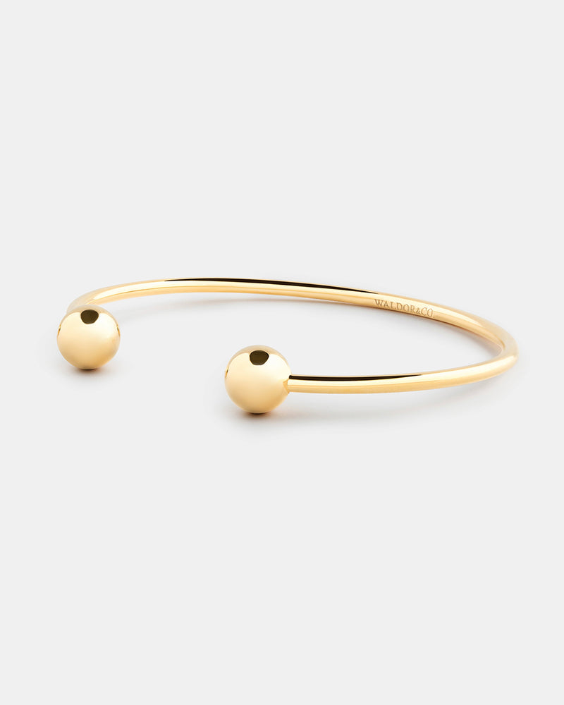Bead Bangle Polished - Waldor & Co.