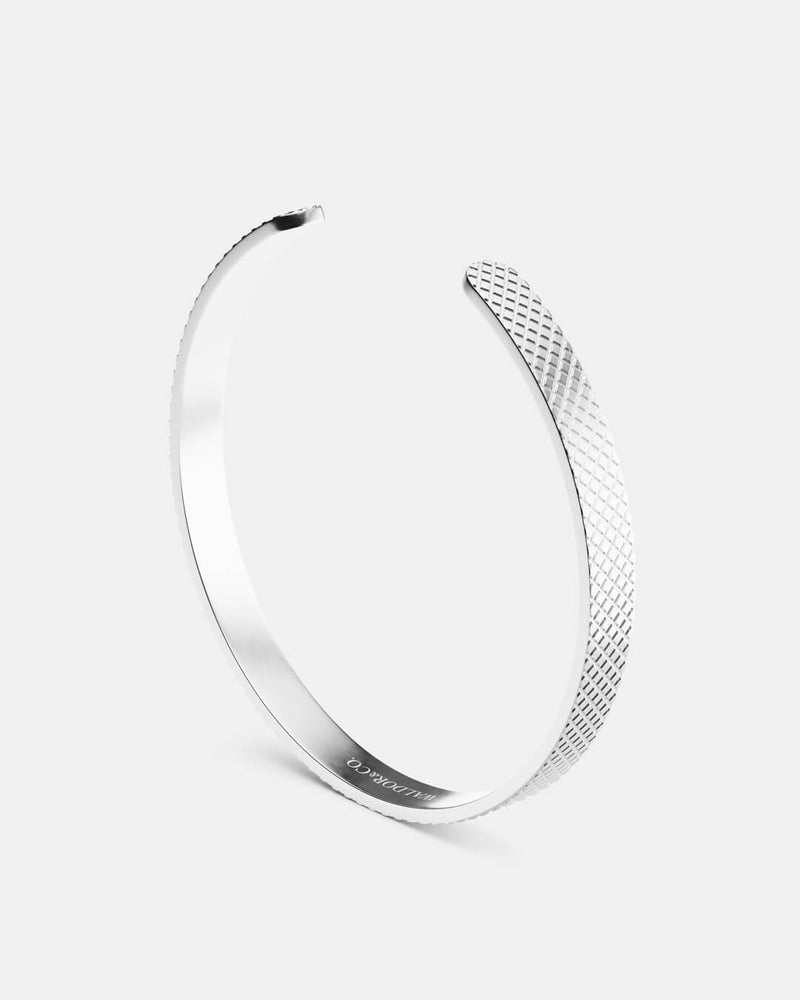 Grid Bangle Polished
