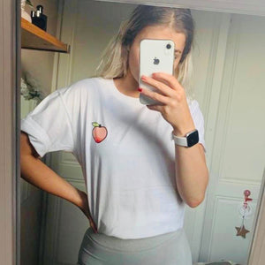 Peachy Whiter Than White Boyfriend Fit Tee