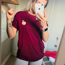 Load image into Gallery viewer, Peachy Burgundy Boyfriend Fit Tee