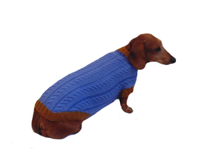100% handmade sweater for small dog - dachshundknit